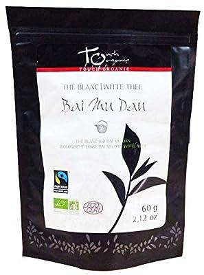 Touch organic Thé Blanc Original Bai Mu Dan en Vrac Bio 60 g - Lot de 3