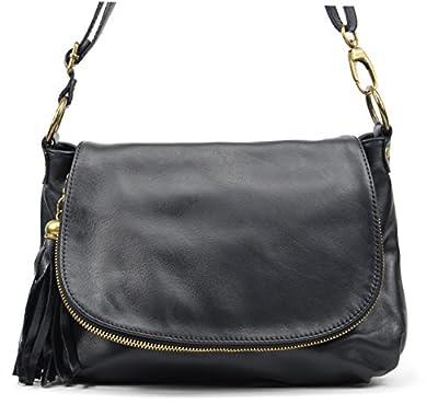 OH MY BAG SOLDES Sac bandoulière Cuir porté épaule bandoulière et de travers femmes en véritable cuir fabriqué en Italie - modèle 72 HEURES SOLDES