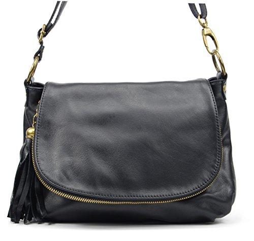 Oh My Bag Sac à main Sac à main bandoulière femme en cuir souple noir Oh My Bag FzgauMZEB