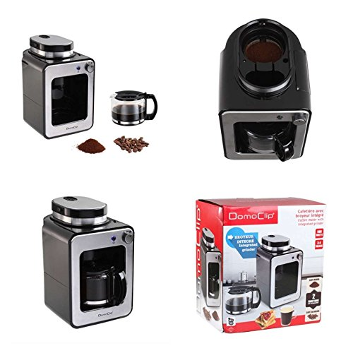 Kaffeemaschine mit Mahlwerk und Glaskanne 0,6 Liter (Kaffeeautomat für Kaffeebohnen oder...