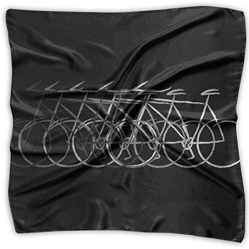 Xukmefat Bikes Elegantes quadratisches Damen-Taschentuch aus Polyester mit Nackenmotiv