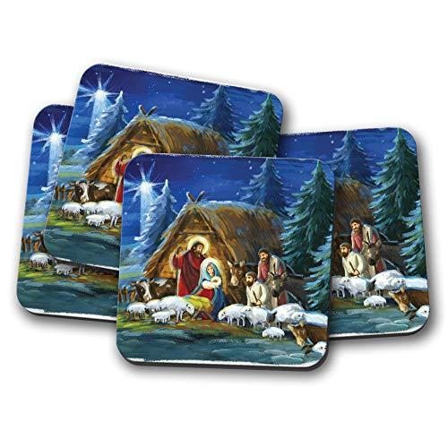 it Krippenmotiv, religiöses Weihnachtsgeschenk, 4 Stück ()