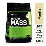 Optimum Nutrition Serious Mass, Mass Gainer Whey, Proteines Musculation Prise de Masse avec Vitamines, Creatine et Glutamine, Vanille, 16 Portions, 5.45 kg