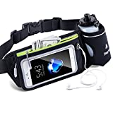 FREETOO Hydration Running Belt Bum Bag Waist Bag with 10 Ounce Water Bottle for iPhone Samsung and Other Less Than 5.5 Inch Cell Phone