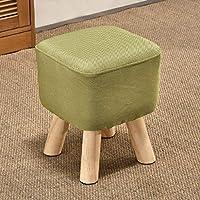 MO XIAO BEI Kleine Bank Kleiner Schemel-Änderungs-Schuh-Bank-Schemel Niedriger Schemel-Sofa-Schemel-Tuch, Das Stuhl-Familie speist (Farbe : Green) preisvergleich bei kinderzimmerdekopreise.eu