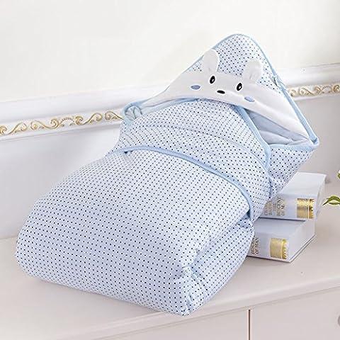 Inicio Monopoly Los recién nacidos Hold otoño y el invierno se puede extraer de la envuelta del invierno del bebé del bebé que sostiene el bolso espesado dormir combinado Suministros ( Color : Azul