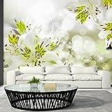 murando - Fototapete 400x280 cm - Vlies Tapete - Moderne Wanddeko - Design Tapete - Wandtapete - Wand Dekoration - Blumen Frühling gelb orange grün Baum Hez Liebe b-A-0295-a-d