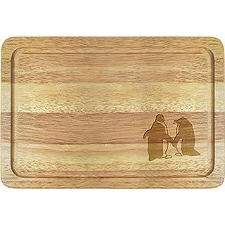 Azeeda 'Cute Penguins' Wooden Chopping Board (WB00014337)