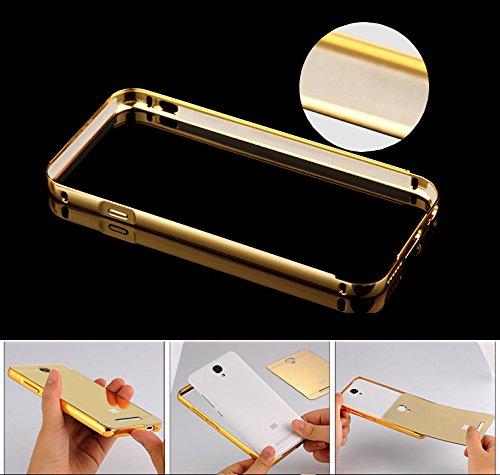 """HICASER iPhone 6 Case Aluminium Métal Bumper Coque pour Apple iPhone 6 4.7"""" Case 2 en 1 Luxe Mirror Arrière Cover + Frame Etui Housse Rose Rose"""