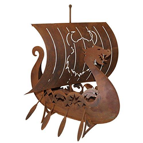 Ferrum Art Design Rostfigur Wikingerschiff, H. ca. 63cm | FE-5-0381 | 4260353199424