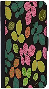 Snoogg Seamless Pattern With Leafdesigner Protective Flip Case Cover For Htc ...