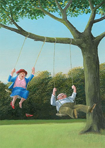 Postkarte A6 • 26033 ''Schaukeln'' von Inkognito • Künstler: Gerhard Glück • Satire •...
