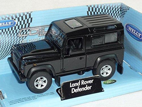 Preisvergleich Produktbild Land Rover Defender 3 TÜrer Schwarz Ca 1 / 43 1 / 36-1 / 46 Welly Modellauto Modell Auto