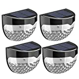 Litom Solar Fence Lights, Decorative Lights LED Garden Lights, Waterproof Solar Lights Wireless Outdoor Lights for Patio, Fence, Yard, Garden, Garage, Stairway, Gate, Wall (Pack of 4)