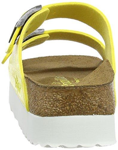 Papillio By Birkenstock Arizona Platform, Sandales Bout ouvert Femme Jaune (Graceful Yellow)
