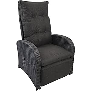 wohaga poly rattan sessel gartensessel rattansessel relaxsessel loungesessel fernsehsessel mit. Black Bedroom Furniture Sets. Home Design Ideas
