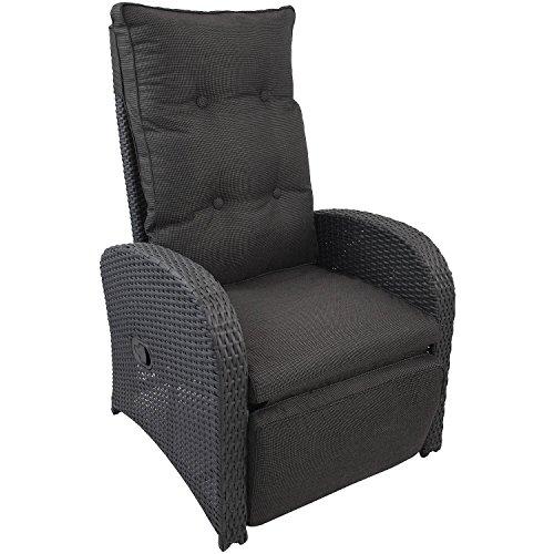 Wohaga® Poly-Rattan Sessel Gartensessel Rattansessel Relaxsessel Loungesessel Fernsehsessel