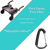 Pack Paseo para sillas: Patinete de Silla Buggy Board y Colgador Gancho Metálico