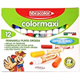 Fibracolor Color Maxi 12 - Fine NIB Sketch Pens With Washable Ink