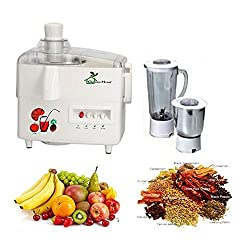 RGI GreenHome JMG Mark-1, 550 Watt Powerful Electric Motor Poly 2 Jars Juicer Mixer Grinder Color White