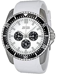 Guess Unisex-Armbanduhr Chronograph Leder W90070G5