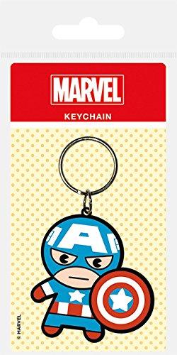 Marvel - Comics goma llavero de Kawaii Capitán América 6 cm Pirámide Internacional