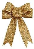 La vogue Weihnachten Schleife Schmuckschleife Stoff Bogen Bänder 13*2.5 cm Gold