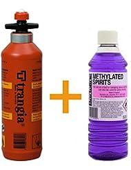 Trangia botella de combustible 0.5L con válvula de seguridad + 500ml Bartoline methylated espíritu