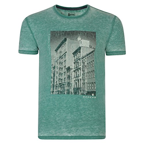 Dare 2B Herren Interscape Graphik Print Kurzarm T-Shirt Ultramarine Green
