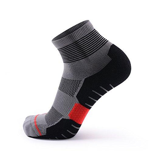 Calze compressione/calzini sportivi meikan coolmax, calzini atletici per sport professionali [1 paio] asciugatura veloce assorbimento dell'umidit¨¤ traspirante anti-blister tessuto per ciclismo, jogging, corsa, guida, trekking, tennis, maratona, triathlon, uomini e donne ¡ (grey(middle), 39-43)