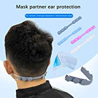 15PCS Mask Strap Extender,Adjustable Comfortable Anti-Tightening Mask Holder Hook Ear Strap Accessories Ear Grips Extension Mask Buckle Ear Pain Relieved 4 Colors Random (Gray)