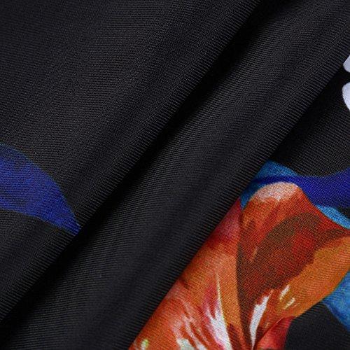 Italily -Donna Costumi da bagno costume da bagno Bikini imbottito push-upda bagno sexy intero Costumi da bagno da donna Costume da bagno imbottito con taglio alto Indossato Black