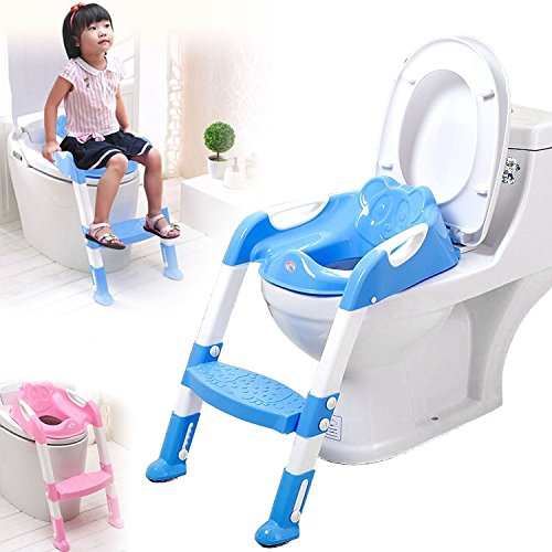 Babycurls Little Journey Toilet Training Kids Non Slip Loo Seat Unisex Grey for Safe Toddler Potty Training in The Bathroom and Home