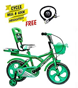 Speed bird cycle industries 14-T Robust Double Seat Kid Bicycle for Boy and Girl - Age Groupe 3-6 Year (Green)