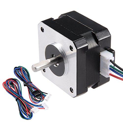 sourcing map Nema 42 Schrittmotor Bipolar 16mm 0.14NM 1.2A 3.6V CNC/3D Drucker Reprap Roboter DE de