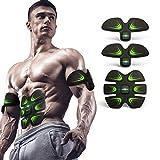 Estimulador de ABS EMS Cinturones de tonificación Muscular Inalámbrico Entrenamiento Muscular Equipo de la Aptitud Gel de sílice 8 Modos 20 Niveles para Oficina Casa Hombres Mujer Rutina de Ejercicio