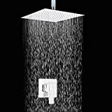 Lozse Duscharmatur 12 Zoll zeitgenössischen Quadrat verchromt schlankes Design