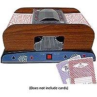 Dough.Q Máquina de Mezcla automática de Cartas Poker Card, 2 Barras, máquina de Mezcla eléctrica como Mezclador de Tarjetas, Funciona con Pilas para Mezclar Tarjetas en póquer (Negro)