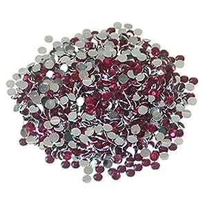 Pack of 1000 x Fuchsia Crystal Flat Back Rhinestone Diamante Gems 4mm