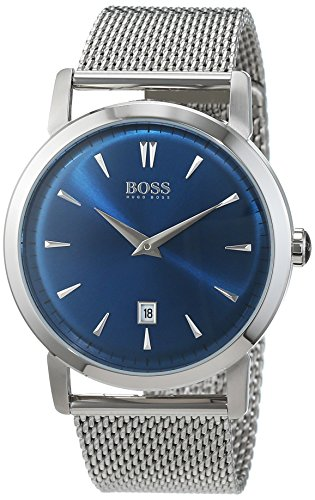 Hugo Boss Herren-Armbanduhr Slim Ultra Analog Quarz Edelstahl 1513273