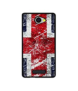 Casotec UK Flag Design Canvas Printed Soft TPU Back Case Cover for Panasonic P55