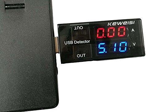 5A/9LED Display Multi Tester Dual USB Ausgangsstrom Detektor für Handy Ladegerät, Power Bank.