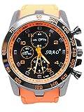 Disfrutar de pulsera Relojes Cronógrafo Automático resistente al agua reloj deportivo para vacaciones de verano playa Sport manecillas luminiscentes. Reloj claro color naranja