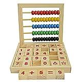 Demiawaking Baby Kinder Rechenrahmen Zählrahmen Lernspiel Holz Abakus Babyspielzeug