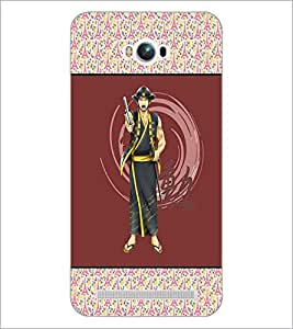 PrintDhaba Chinese Warrior D-5725 Back Case Cover for ASUS ZENFONE MAX ZC550KL (Multi-Coloured)