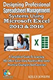 Designing Professional Spreadsheet Management Systems Using Microsoft Excel 2013 & 2016: A Simplified Guide To Learning MS Office Excel Data Analysis With ... Office Tutorials Series) (English Edition)