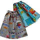 Lot de 2 serviettes de table enfant élastiquées - ANIMAUX RIGOLOS