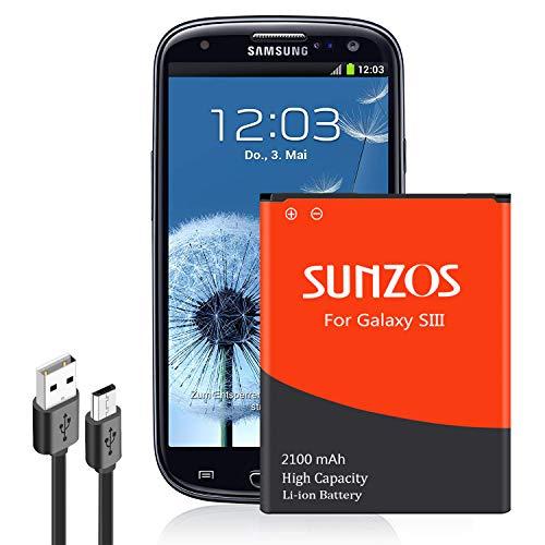 SUNZOS Akku für Samsung Galaxy S3 EB-L1G6LLU GT-i9300 / S3 LTE GT-i9305 / S3 NEO GT-i9301 Accu Batterie