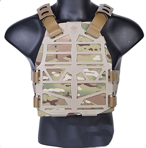 Emerson AIRSOFT PLATEFRAME SKELETON MOLLE COSPLAY TF3 VEST CHEST RIG MULTICAM TAN