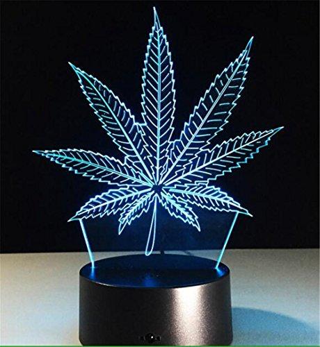 ion Lampe Blätter Nacht Licht 7 Farben berühren USB Tisch Nice gift Spielzeug Verzierungen (Projektor-tricks Zu Halloween)